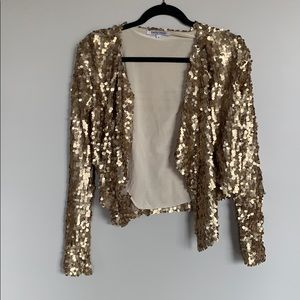Jackets & Blazers - Gold sequin blazer